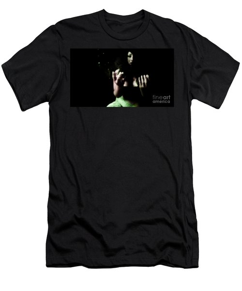 Men's T-Shirt (Slim Fit) featuring the photograph Pleading by Jessica Shelton