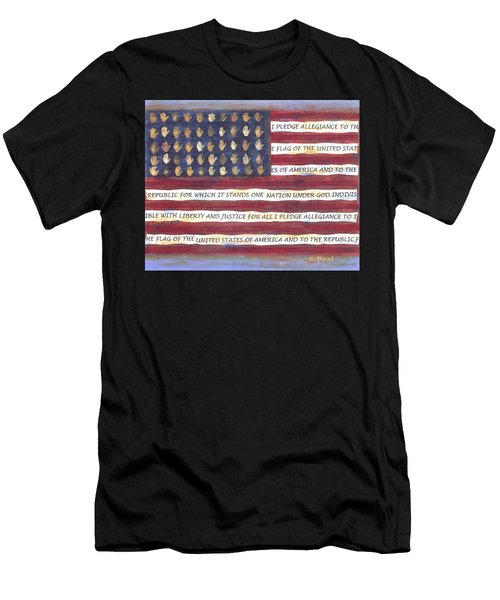 Pledge Flag Men's T-Shirt (Athletic Fit)