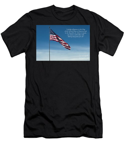 Pledge Of Allegiance Men's T-Shirt (Athletic Fit)