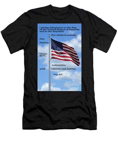 Pledge Of Allegiance Men's T-Shirt (Athletic Fit)