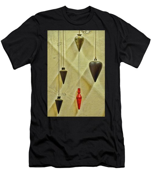 Plumb Red Men's T-Shirt (Slim Fit) by Jan Amiss Photography