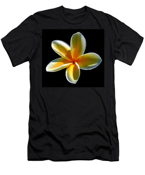 Plumeria Against Black Men's T-Shirt (Athletic Fit)