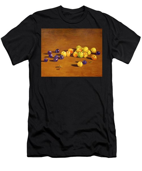 Plums And Apples Still Life Men's T-Shirt (Athletic Fit)