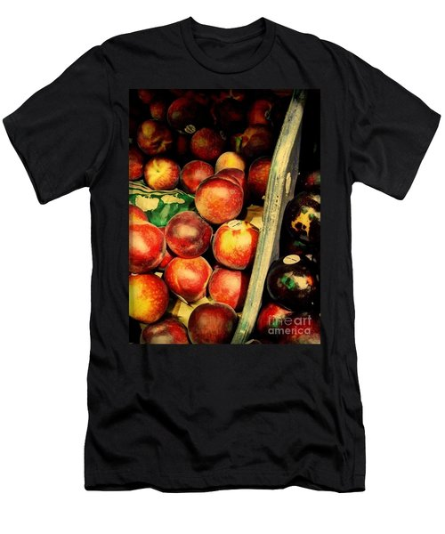 Men's T-Shirt (Slim Fit) featuring the photograph Plums And Nectarines by Miriam Danar