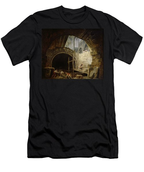 Plundering The Royal Vaults At St. Denis In October 1793 Oil On Canvas Men's T-Shirt (Athletic Fit)