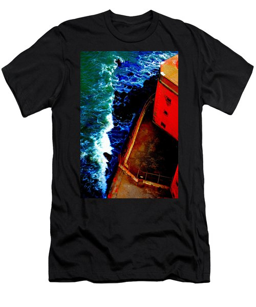 Plunging From Golden Gate Men's T-Shirt (Slim Fit)