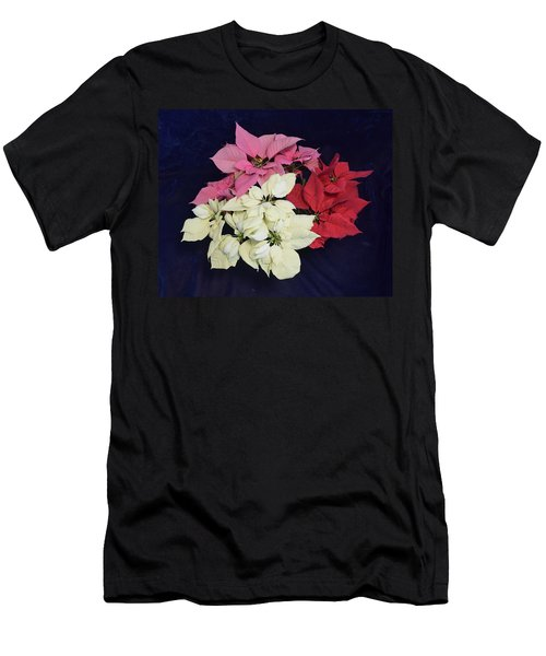 Poinsettia Tricolor Men's T-Shirt (Athletic Fit)