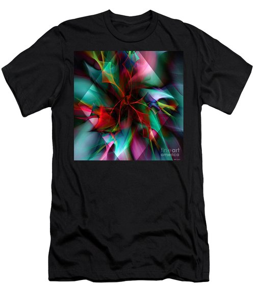 Poinsettia Warm Diamond  Men's T-Shirt (Athletic Fit)
