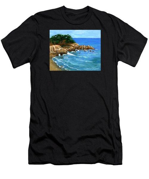 Point Lobos Coast Men's T-Shirt (Athletic Fit)