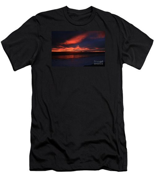 Men's T-Shirt (Slim Fit) featuring the photograph Point Mugu 1-9-10 Just After Sunset by Ian Donley