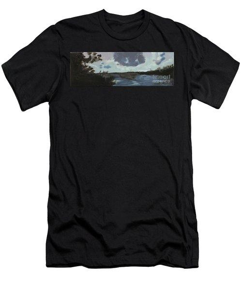 Pointe Aux Chein Blue Skies Men's T-Shirt (Athletic Fit)