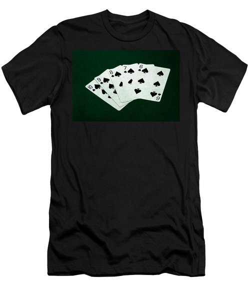 Poker Hands - Straight Flush 1 Men's T-Shirt (Athletic Fit)