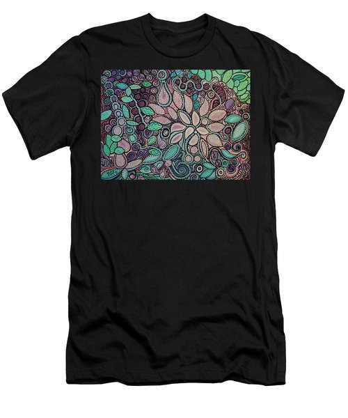 Polka Dot Flowers Men's T-Shirt (Athletic Fit)