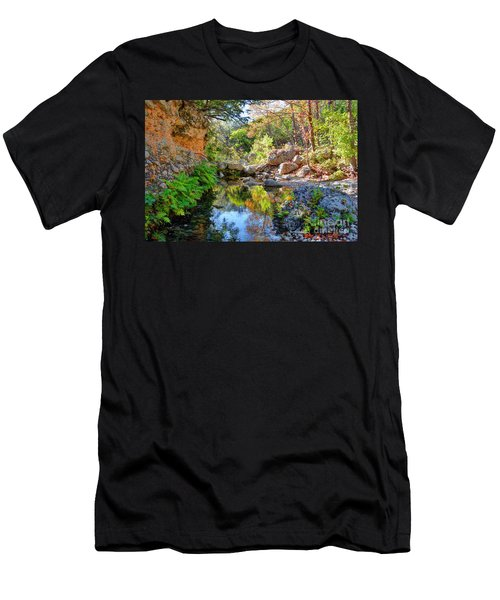 Pond At Lost Maples Men's T-Shirt (Athletic Fit)