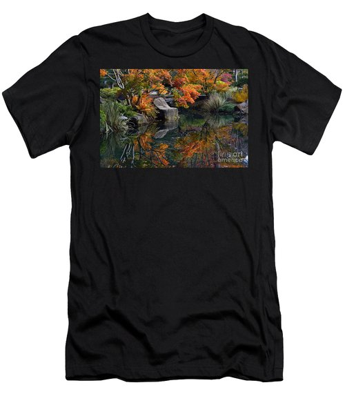 Pond In Autumn Men's T-Shirt (Athletic Fit)