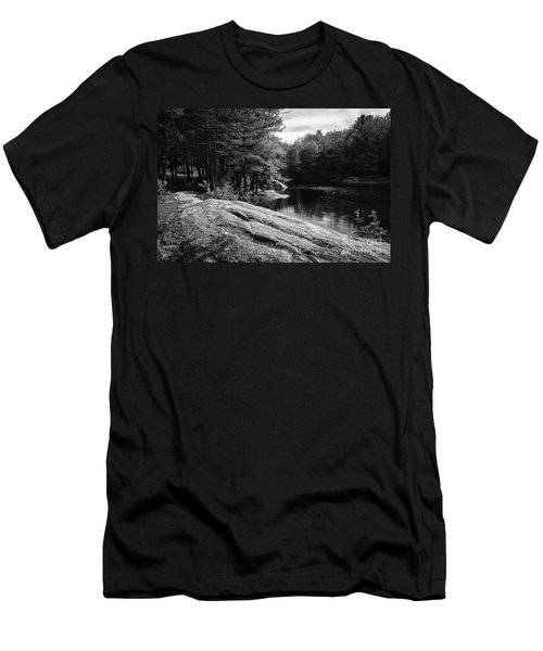 Men's T-Shirt (Slim Fit) featuring the photograph Pondside by Mark Myhaver
