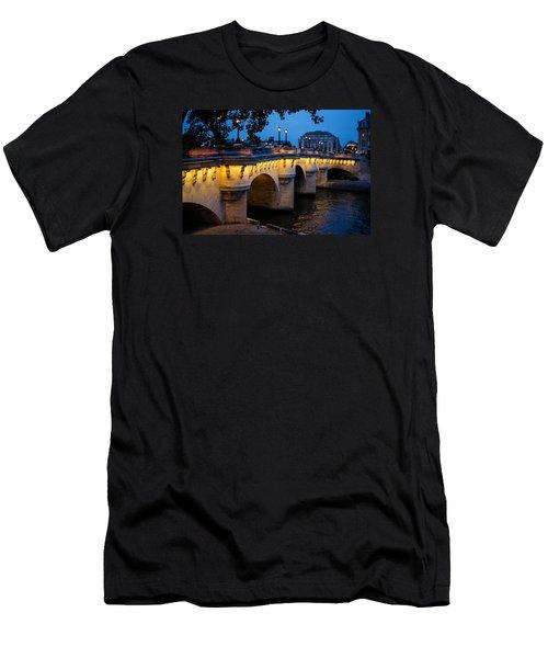 Pont Neuf Bridge - Paris France I Men's T-Shirt (Slim Fit) by Georgia Mizuleva