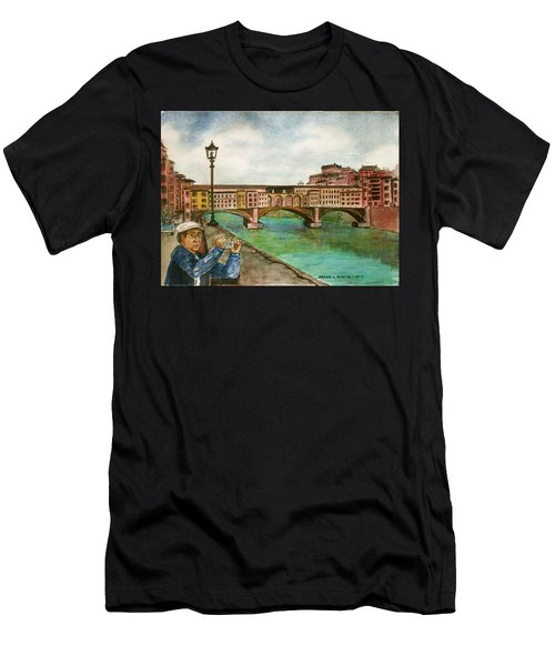 Ponte Vecchio Florence Italy Men's T-Shirt (Athletic Fit)