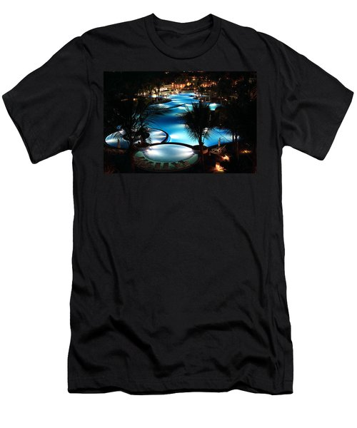 Pool At Night Men's T-Shirt (Athletic Fit)