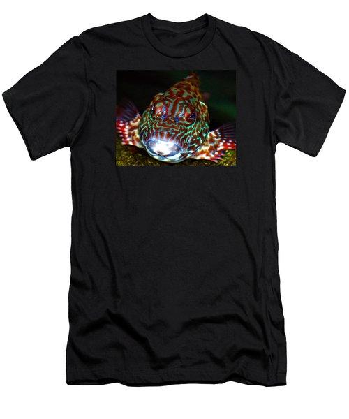 Poopaa Hawaiian Hawk Fish Men's T-Shirt (Athletic Fit)