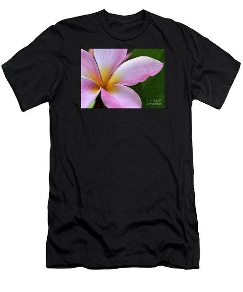 Pop Of Pink Plumeria Men's T-Shirt (Athletic Fit)