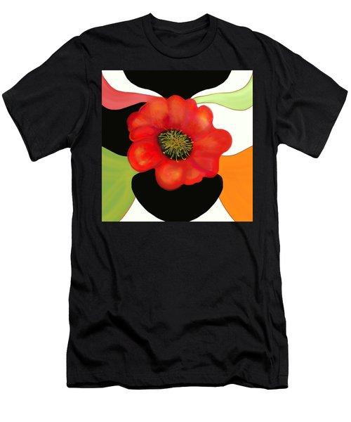 Pop Poppy Men's T-Shirt (Slim Fit) by Christine Fournier