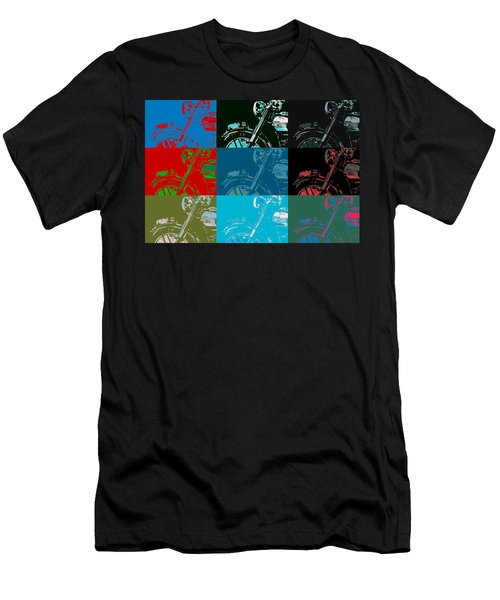 Popart Motorbike Men's T-Shirt (Athletic Fit)