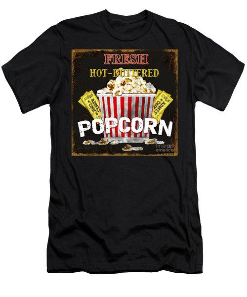 Popcorn Please Men's T-Shirt (Slim Fit) by Jean Plout