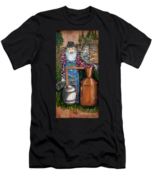 Popcorn Sutton - Moonshiner - Redneck Men's T-Shirt (Athletic Fit)