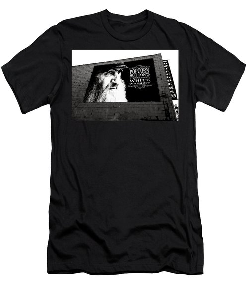 Popcorn Sutton's Tennessee White Whiskey Men's T-Shirt (Athletic Fit)