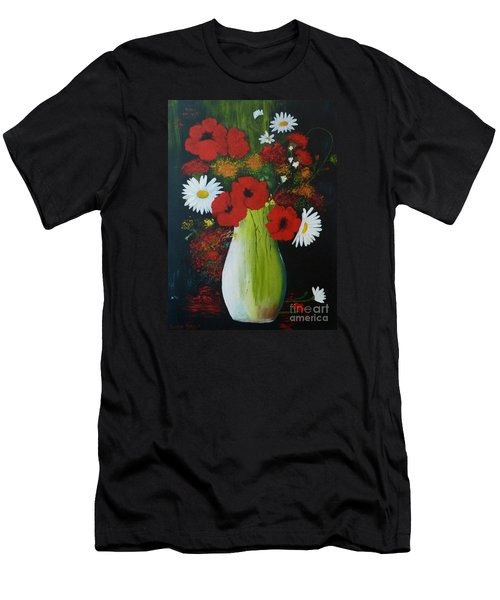 Poppies And Daisies Men's T-Shirt (Athletic Fit)
