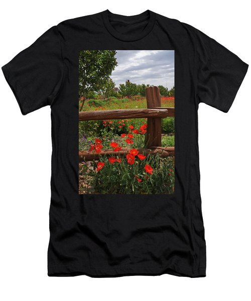 Poppies At The Farm Men's T-Shirt (Athletic Fit)