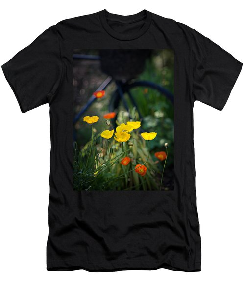 Men's T-Shirt (Athletic Fit) featuring the photograph Poppies by Doug Gibbons