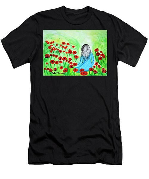 Poppies Field Illusion Men's T-Shirt (Athletic Fit)