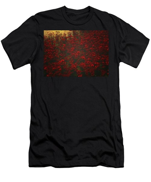 Poppies In The Rain Men's T-Shirt (Athletic Fit)