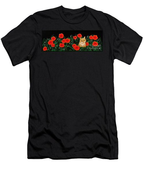 Poppy Cat Men's T-Shirt (Athletic Fit)