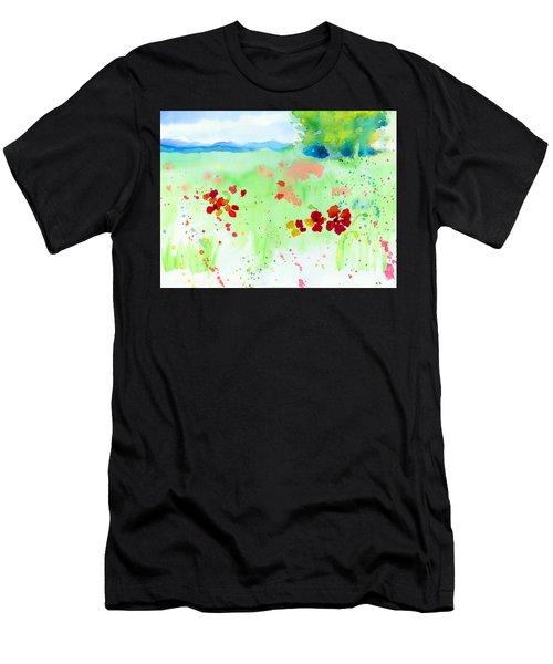 Poppy Passion Men's T-Shirt (Slim Fit) by C Sitton