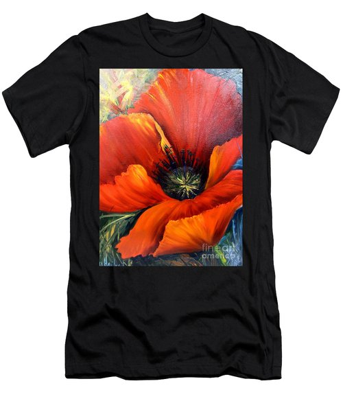 Poppy Red Men's T-Shirt (Athletic Fit)