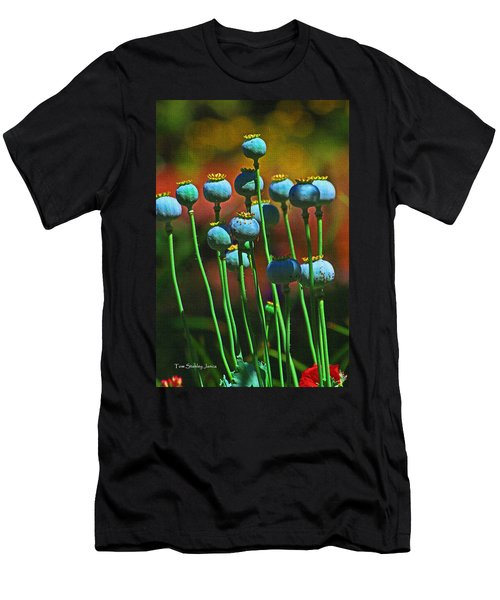 Poppy Seed Pods Men's T-Shirt (Slim Fit) by Tom Janca