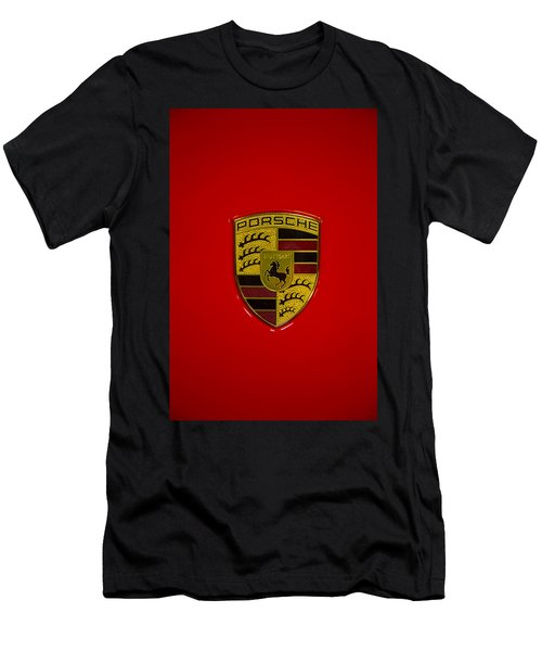 Porsche Emblem Red Hood Men's T-Shirt (Athletic Fit)