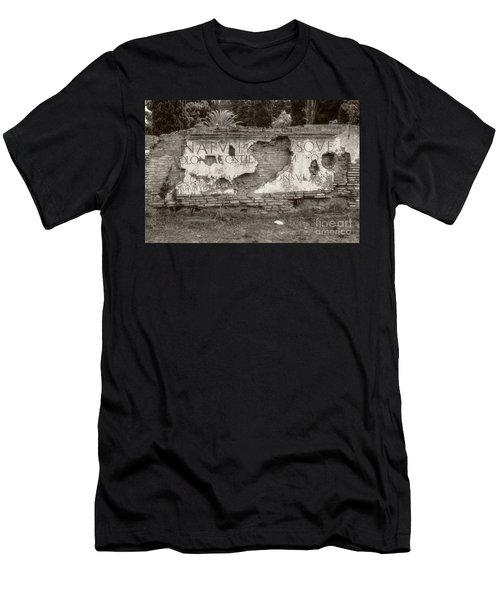 Porta Romana In Sepia Men's T-Shirt (Athletic Fit)