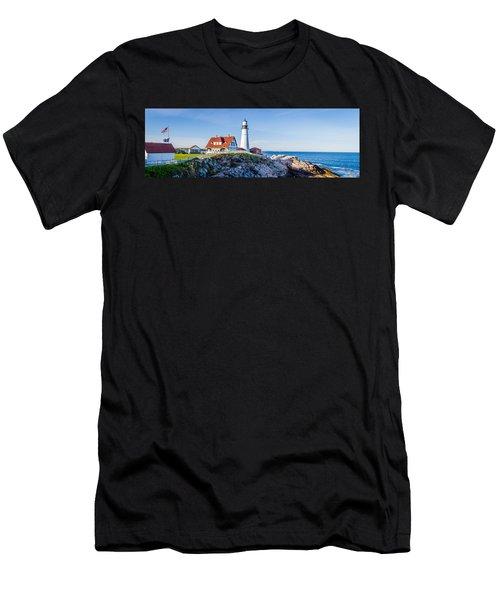 Portland Head Light House Cape Elizabeth Maine Men's T-Shirt (Athletic Fit)