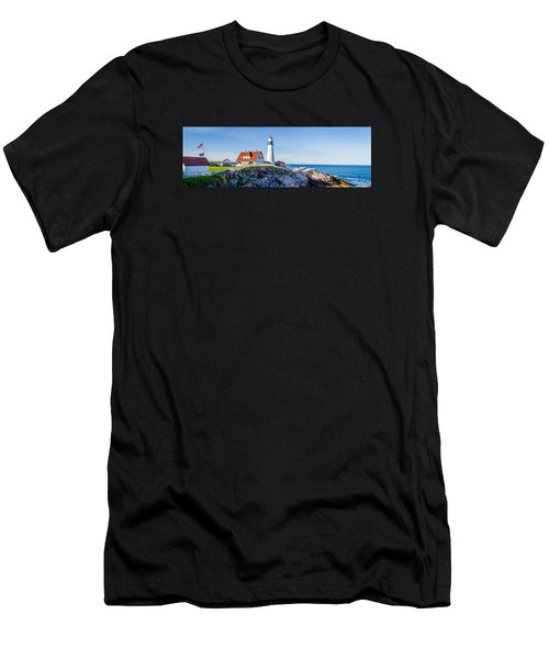 Portland Head Light House Cape Elizabeth Maine Men's T-Shirt (Athletic Fit)
