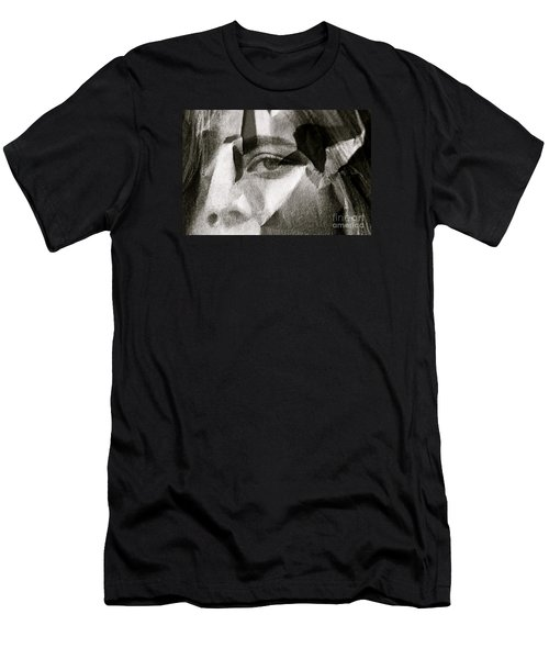 Portrait In Black And White Men's T-Shirt (Slim Fit) by Michael Cinnamond