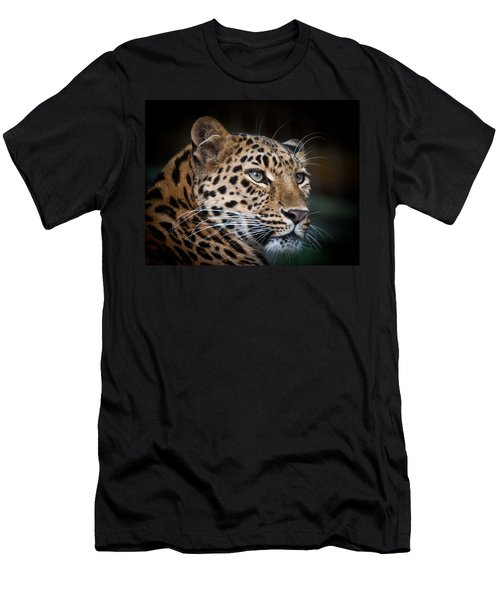 Portrait Of A Leopard Men's T-Shirt (Athletic Fit)