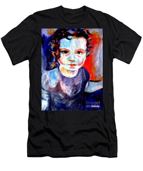 Portrait Of A Little Girl Men's T-Shirt (Athletic Fit)