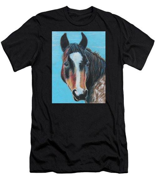 Portrait Of A Wild Horse Men's T-Shirt (Athletic Fit)