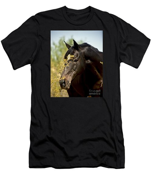 Portrait Of A Thoroughbred Men's T-Shirt (Slim Fit) by Kathy McClure