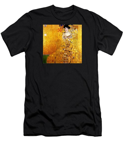 Men's T-Shirt (Athletic Fit) featuring the painting Portrait Of Adele Bloch-bauer by Gustav Klimt