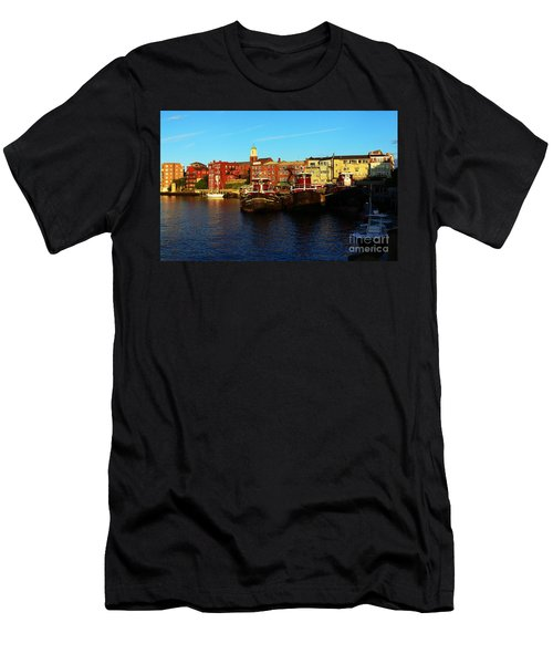 Portsmouth In The Afternoon Men's T-Shirt (Slim Fit) by Kevin Fortier